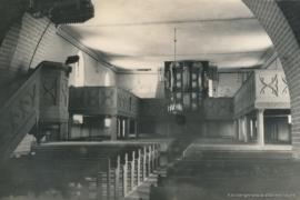 Kirche Blankenhagen - Kirchenschiff mit Orgel 1958