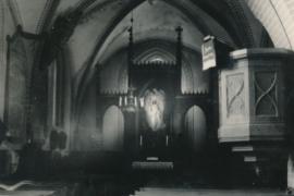 Kirche Blankenhagen - Altarraum 1958