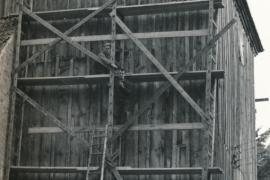 Kirche Blankenhagen - Turmsanierung 1969