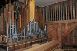 Kirche Blankenhagen - Orgel Innenraum
