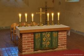 Kirche Blankenhagen - Altarraum Detail