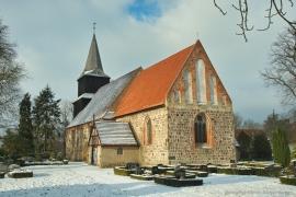 Kirche Blankenhagen - Winter 2016