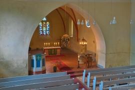 Kirche Blankenhagen, Chorraum von der Empore