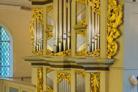 Orgel Blankenhagen - Seitliche Ansicht