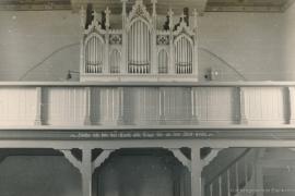 Kirche Dänschenburg - Empore und Orgel 1956