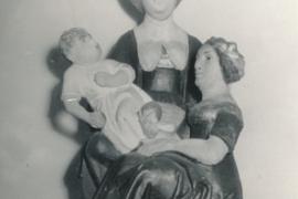 Kirche Dänschenburg - Figur Anna Selbdritt