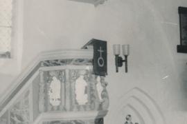 Kirche Dänschenburg - Kanzel 1950er Jahre