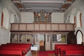 Kirche Dänschenburg - Empore und Orgel