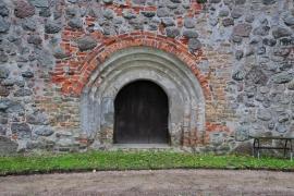 Kirche Dänschenburg - Turmzugang