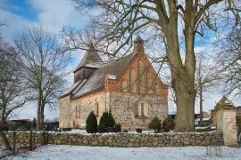 Kirche Dänschenburg - Winter