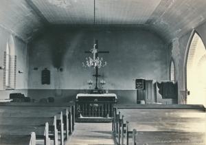 Kirche Gelbensande - Innenraum mit Altar im Jahr 1968