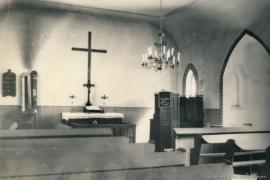 Kirche Gelbensande - Innenraum mit Altar im Jahr 1958
