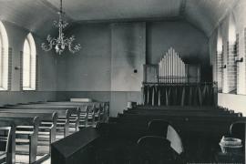 Kirche Gelbensande - Innenraum mit Orgel im Jahr 1968
