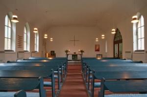 Kirche Gelbensande - Kirchenschiff und Altar