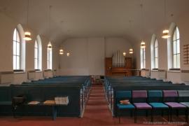 Kirche Gelbensande - Kirchenschiff mit Orgel