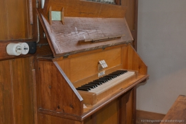 Kirche Gelbensande - Spieltisch Orgel