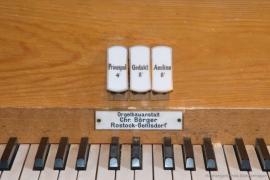 Kirche Gelbensande - Detail Orgel