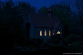 Kirche Gelbensande - bei Nacht