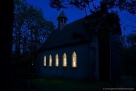 Kirche Gelbensande - bei Nacht 2