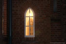 Kirche Gelbensande - Detail - Fenster des Eingangs